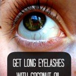 Grow crazy long eyelashes with coconut oil!