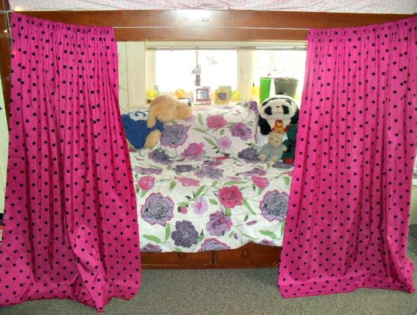 Hanging curtains on your bunk is a fantastic way to have a private place, get to sleep even when your roommates awake, and add some personality to your dorm room!