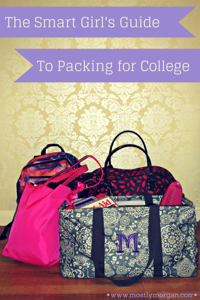 A smart girls guide to packing for college. The BEST tips you'll find and a very thorough guide explaining what you need and don't need. Written by a college student!