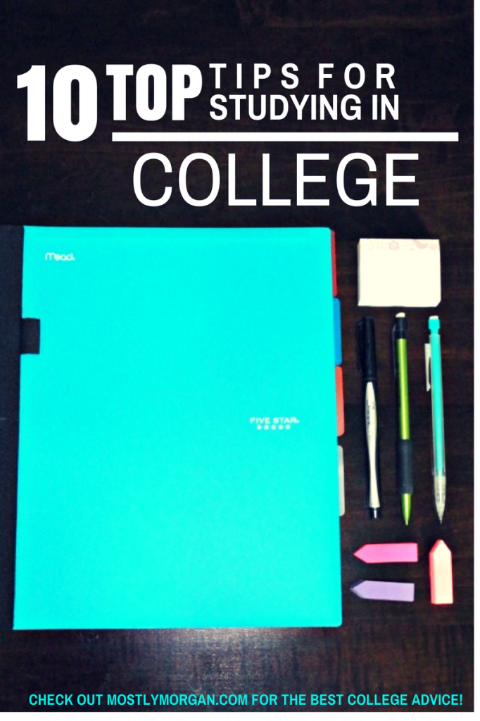 Check out www.mostlymorgan.com for the BEST #college #studying tips!