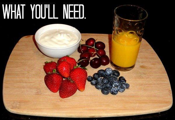 What you'll need to make a yummy, healthy breakfast smoothie!