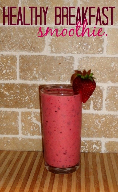 Check out http://mostlymorgan.com for a healthy, yummy, breakfast smoothie!