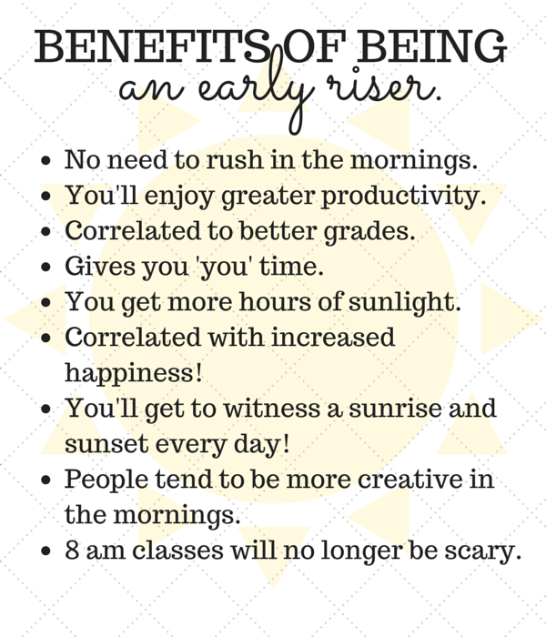 The Collegiates Guide to Becoming a Morning Person.