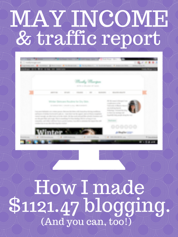 Every month I break down how I am making money from my blog and how you can do the same! Check out my latest post where I lay it all out and explain exactly where my money is coming from!