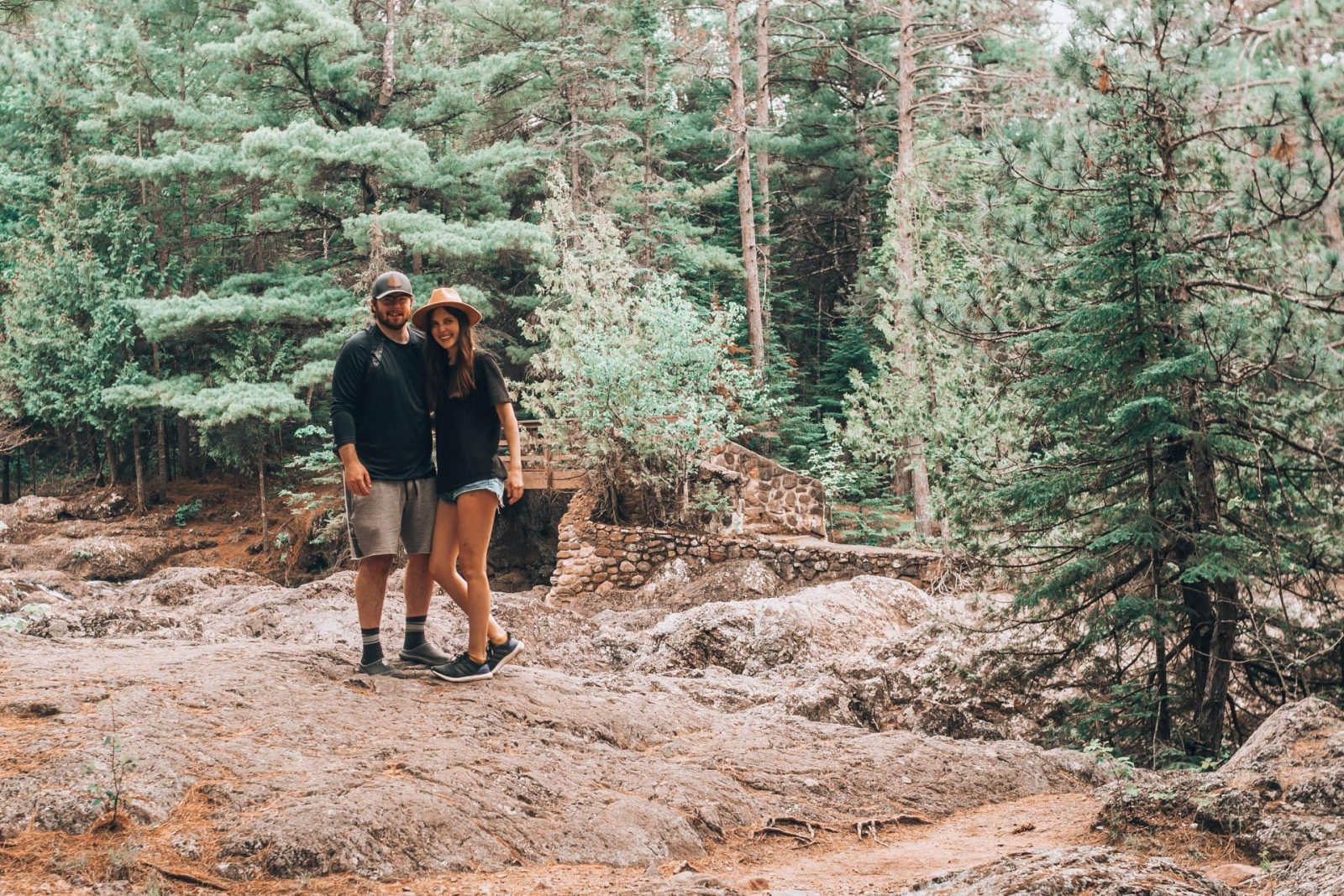 Our engagement story - getting engaged at Amnicon Falls State Park in Wisconsin.